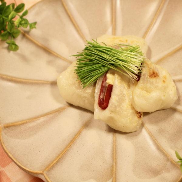 【レシピ】生ハムと味噌クリームチーズの焼き餅